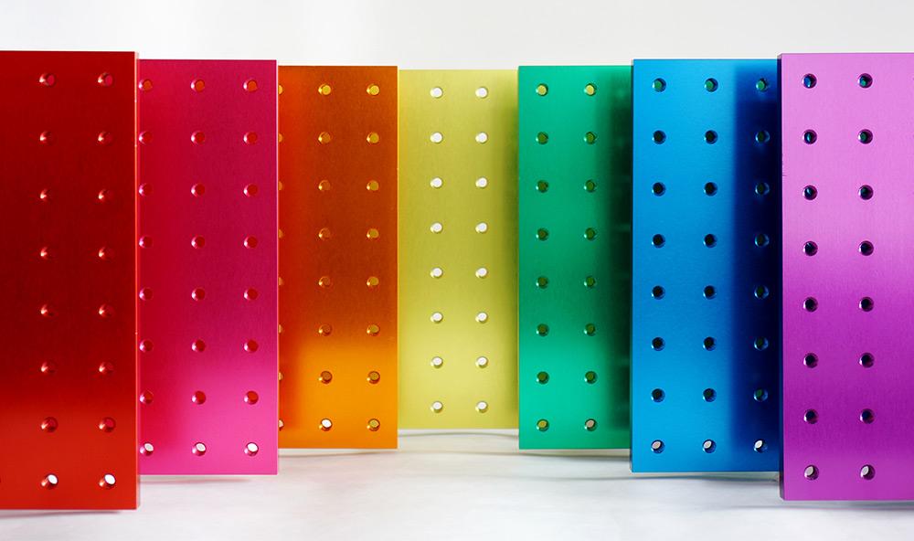 光学ブレッドボード カラーサンプル