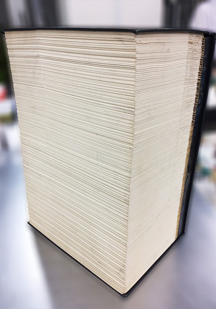 The binding of the thick book