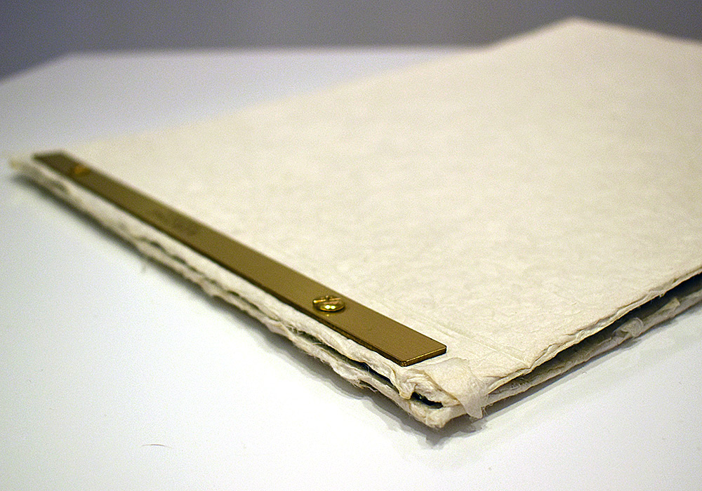 A menu book using Japanese paper
