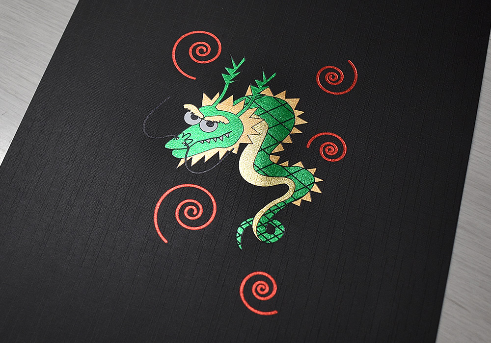 dragon of a multicolor sample of the foil stamping