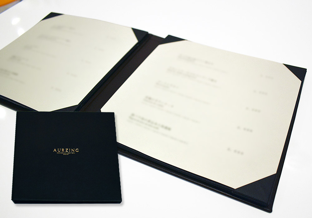 customized menu book and cover
